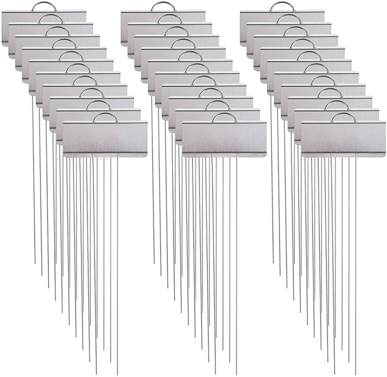Foraineam 30 Pack 11.5 inch Stainless Steel Garden Markers Weatherproof Metal Plant Labels Large Planting Seedling Stake Signs
