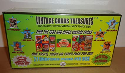 Vintage Cards Treasures 2013 Find The 1952 Topps Pack And Other Vintage Packs Limited Edtion Baseball Chase Box Search For Mantle Aaron Ryan