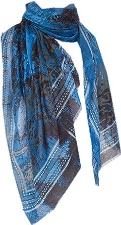 TOPSTORE01 Écharpe Moderne Tête de Loup Châle Foulard Chaud Étole Femme  (Bleu)  Amazon.fr  Vêtements et accessoires cf2f998f2f1