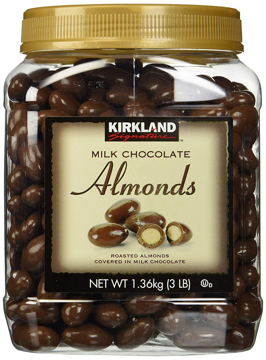 Kirkland Signature INRSC Milk Chocolate Roasted Almonds, 4 Pack 48 Ounce by Kirkland Signature