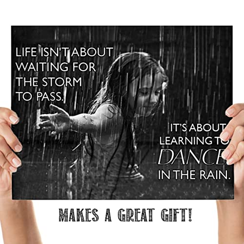 Life Isn T About Storms Dance In The Rain Motivational Quotes Wall Art 10 X 8 Modern Typographic Wall Print Ready To Frame Inspirational