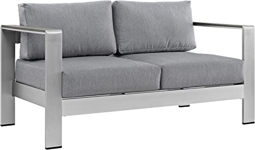 Modway Shore Aluminum Outdoor Patio Loveseat