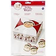 Wilton 415-8554 3 Count Elf on The Shelf Treat Boxes