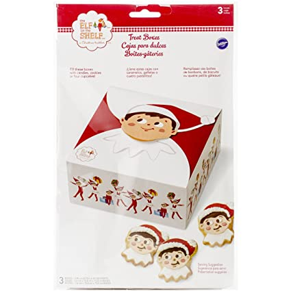 Wilton 415-8554 3 Count Elf on The Shelf Treat Boxes