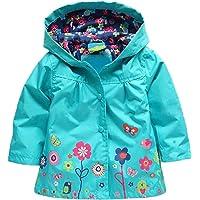 MAXIMGR Baby Girls Kid Waterproof Coat Jacket Outwear Raincoat Hoodie