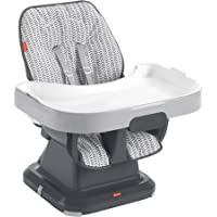 Fisher-Price SpaceSaver Simple Clean High Chair Pencil Strokes, Portable Infant-to-Toddler Dining Chair and Booster Seat…