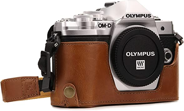 E-M10 14-42mm MegaGear Ever Ready Leather Camera Case Compatible with Olympus OM-D E-M10 Mark II