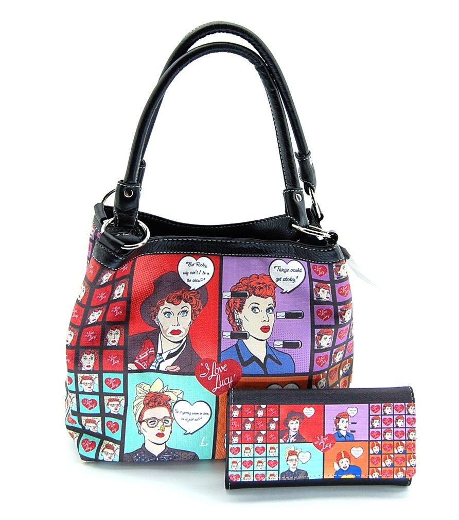 I Love Lucy LU10130 Collage Medium Purse Wallet Set