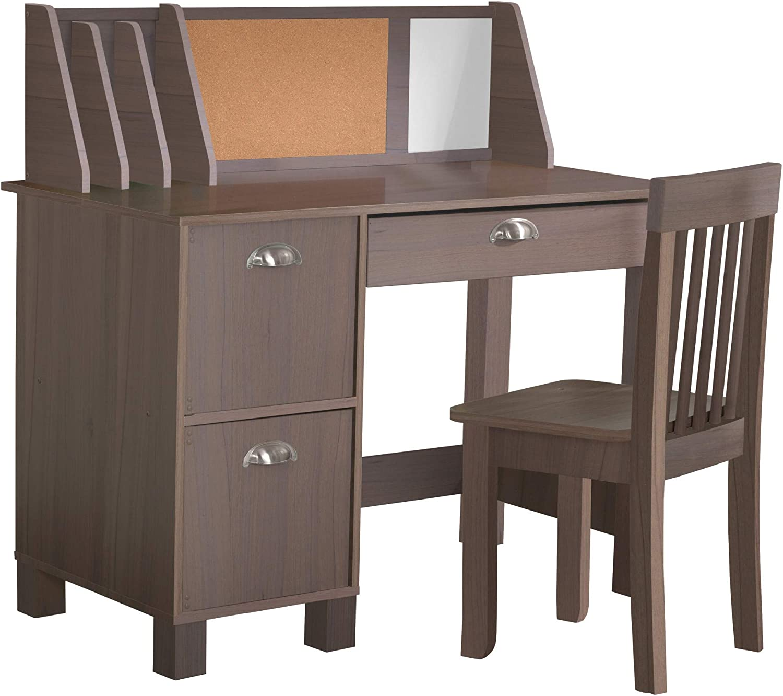 KidKraft Study Desk with Chair - Gray Ash