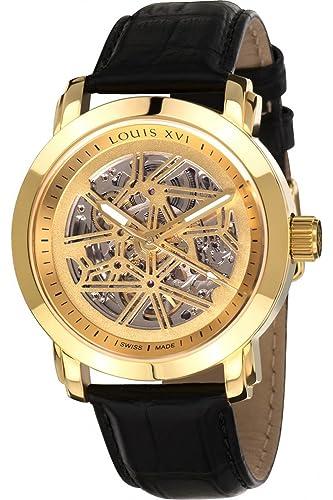 Louis XVI de Hombre Reloj de Pulsera Versailles L OR L OR Automatique Skeleton