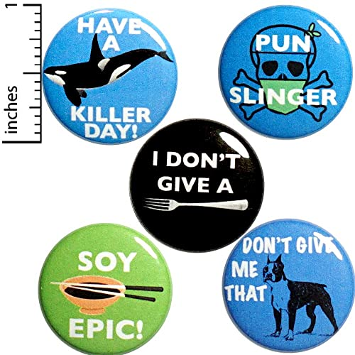 Amazon com: Pun Buttons 5 Pack Backpack Pins Soy Epic Tough