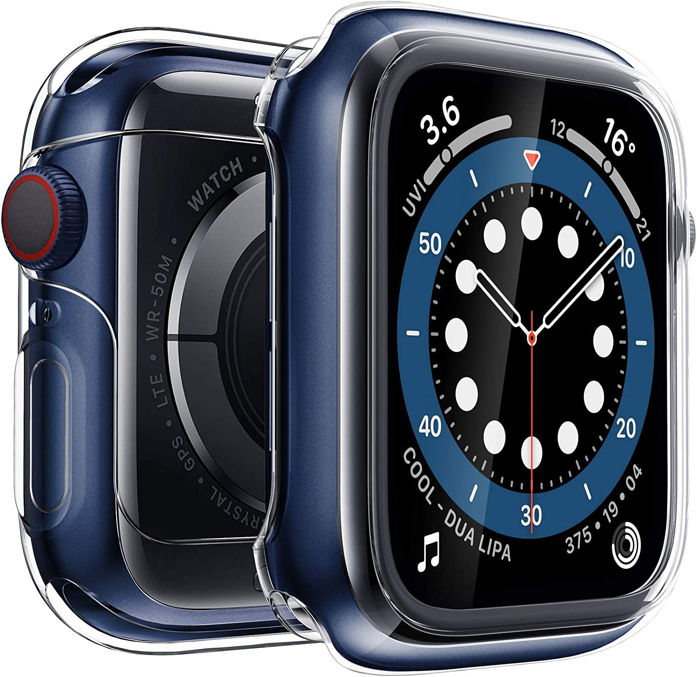 Penom Case for New Apple Watch SE Series 6 Screen Protector 40mm(2020), Apple Watch Series 5 Series 4 Case (40mm, SpaceGray)