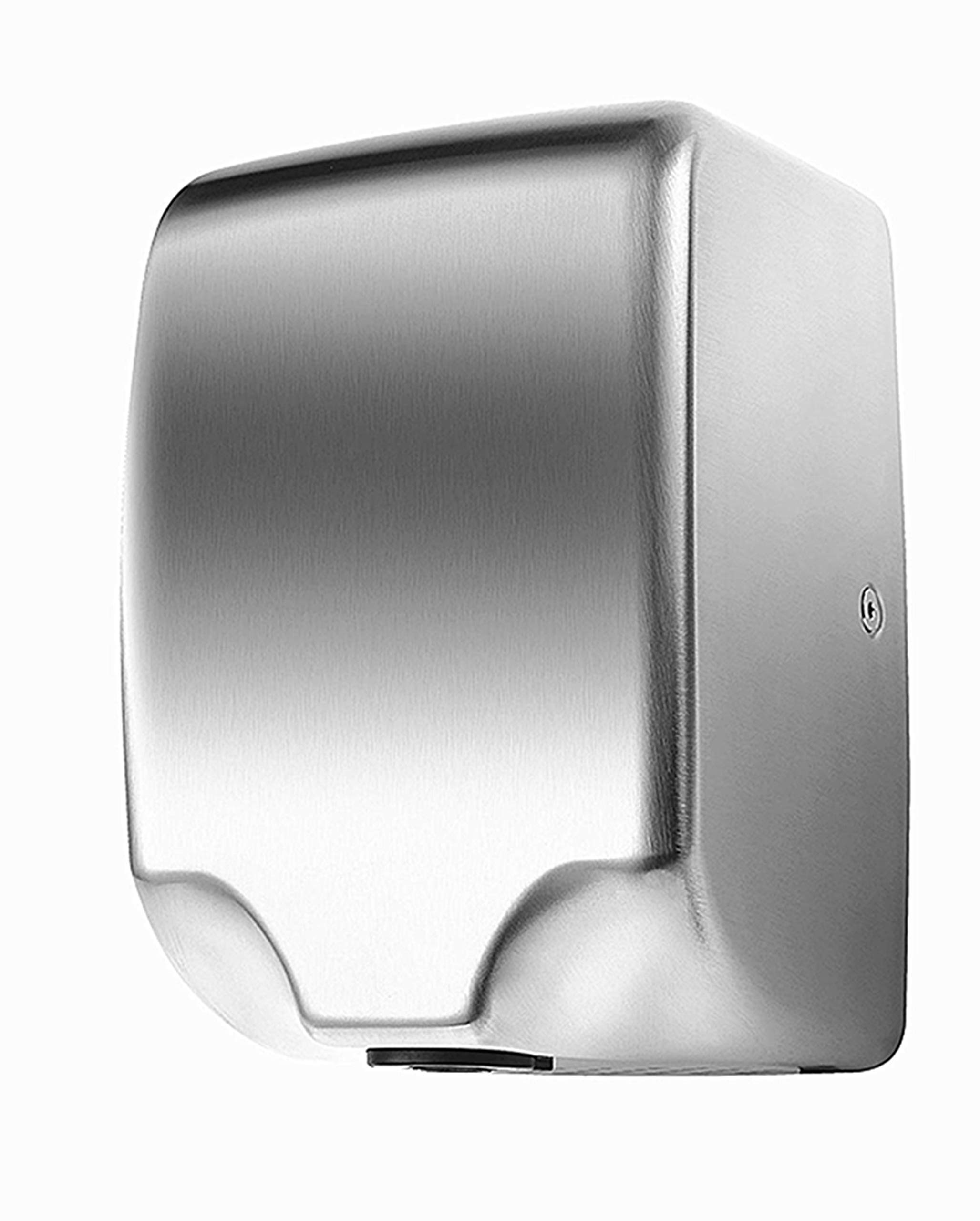 110V/1350W Commercial Electric Hand Dryer For bathrooms,Automatic Sensor,High Speed With Low Noise 70db,Hot/Cold Air,Brushed Stainless Steel 304 Cover,Innovative Compact Design, Easy Installation