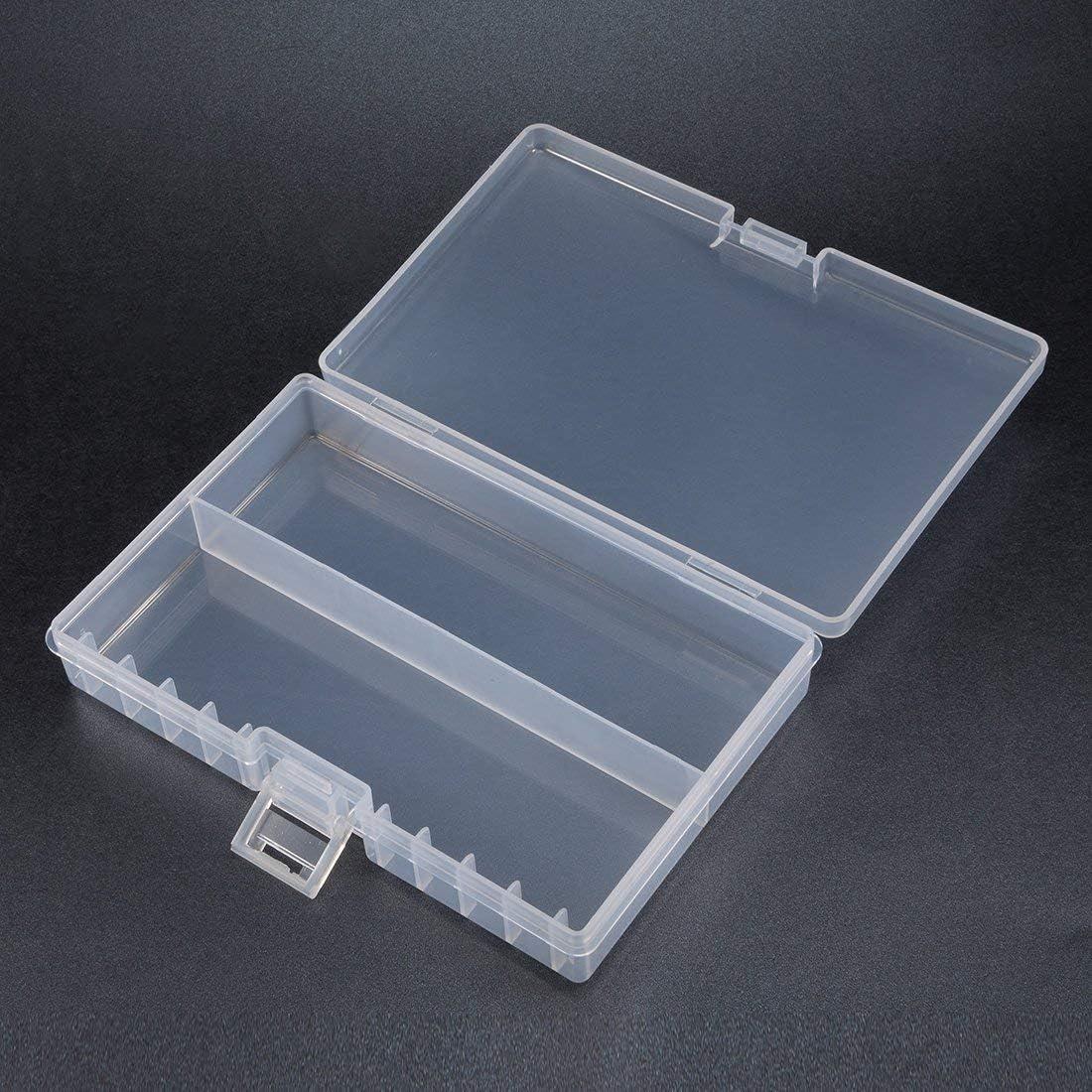 DealMux AA Caja de Almacenamiento de batería Transparente Caja de Soporte Organizador de plástico Contenedor de protección portátil para 48xAA: Amazon.es: Electrónica