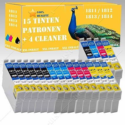 15 X Cartuchos de Tinta & 4 x Cartuchos de limpieza compatible con ...