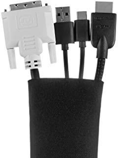 AmazonBasics Cable Sleeve - Velcro, 80-Inch, Black