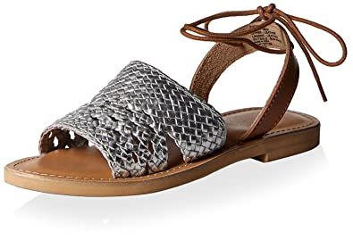 Kenneth Cole REACTION Women's Zoom Out Sandal, Silver, ...