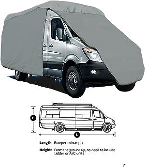 SavvyCraft 4-Layer Class B RV Motorhome Camper Vans High Top Van Cover Fits 21'L w/36 Bubble top