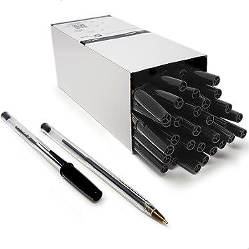 black ballpoint pens