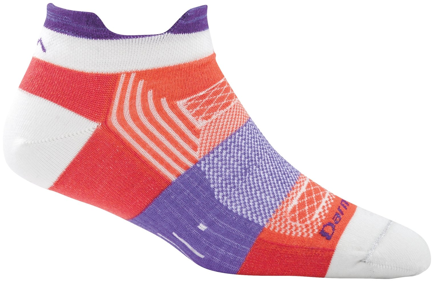 Darn Tough Pulse No Show Tab Light Sock - Women's Coral Medium