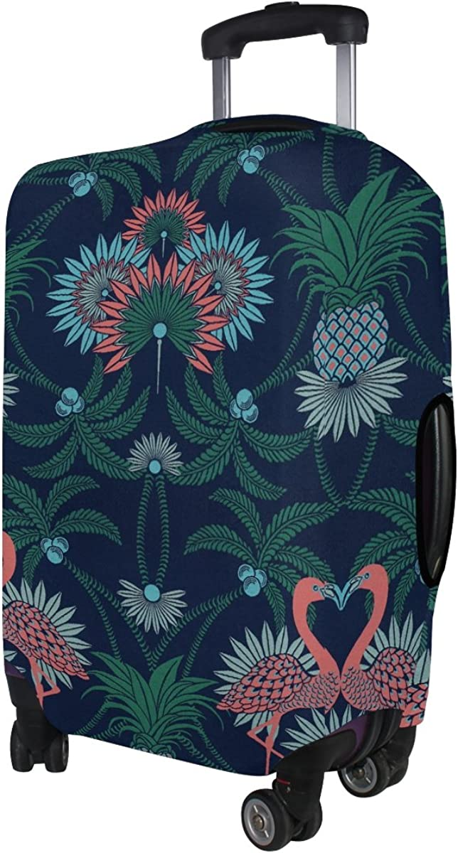 LAVOVO Vintage Love Flamingos Pineapple Luggage Cover Suitcase Protector Carry On Covers