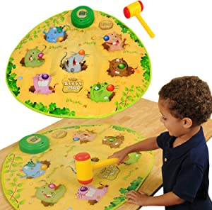 Constructive Playthings CP Toys Smack the Moles - Playmat with Hammer Classic Game of Endless Fun