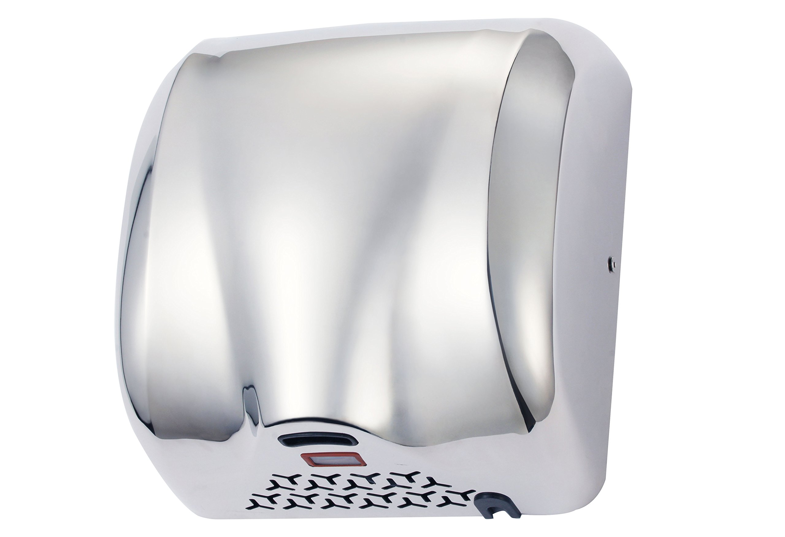 TCBunny K2017 High Speed 1800W Fast 90m/s Dry Hot Stainless Steel Chrome Automatic Hand Dryer for Commercial Bathroom, Silver