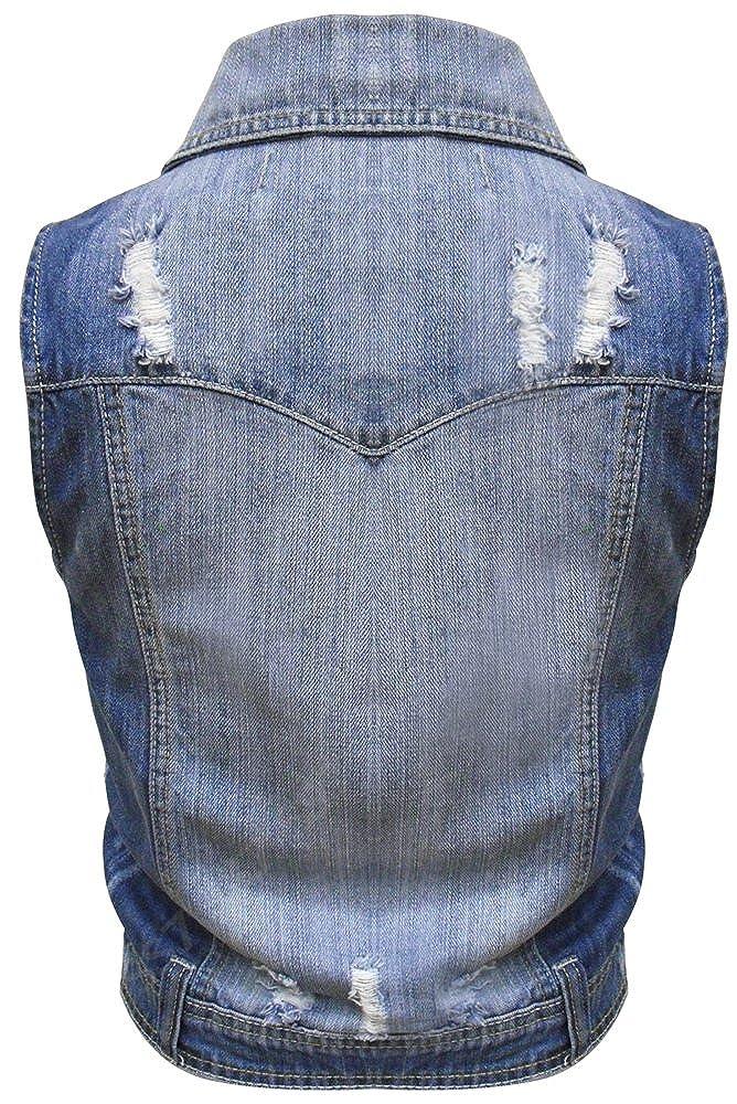nouveau Denim Femmes Veste gilet jean taille 8 10 12 14 16