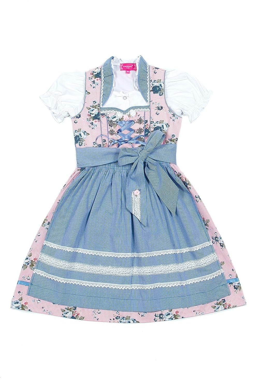 Krüger Kinderdirndl Fee creme/blau K010018