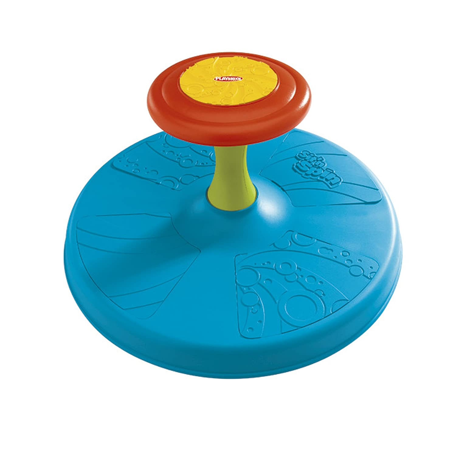 Playskool Sit N Spin Classic Spinning Activity Toy For Hey Baby Busy Bee Round Bib Toddlers Ages Over 18 Months Toys Games