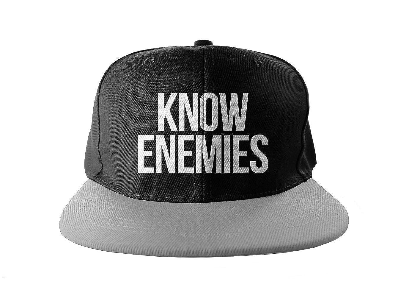 Know Enemies Cool Swag Hip Hop impresión Snapback Sombrero Gorra ...