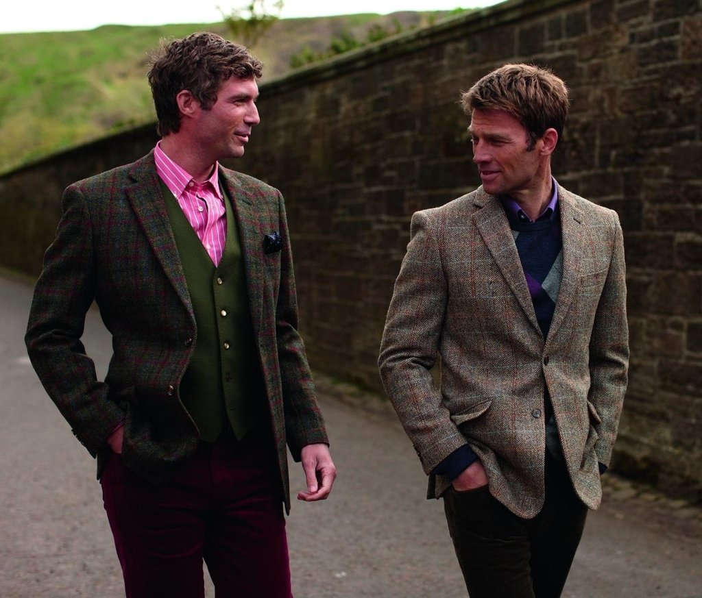 The Fine Swine Men's Harris Tweed Jacket Hamish 40 Long Brown mix by Harris Tweed and The Fine Swine (Image #3)
