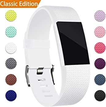Hotodeal Fitbit Charge 2 Classic Soft TPU Adjustable Bands