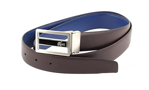 LACOSTE Curved Welded Edges Belt W85 Brown / Blue