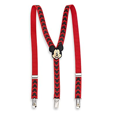 2ae9a6b2c Image Unavailable. Image not available for. Color: Mickey Mouse Toddler  Boys Red Suspenders MSE45540ST