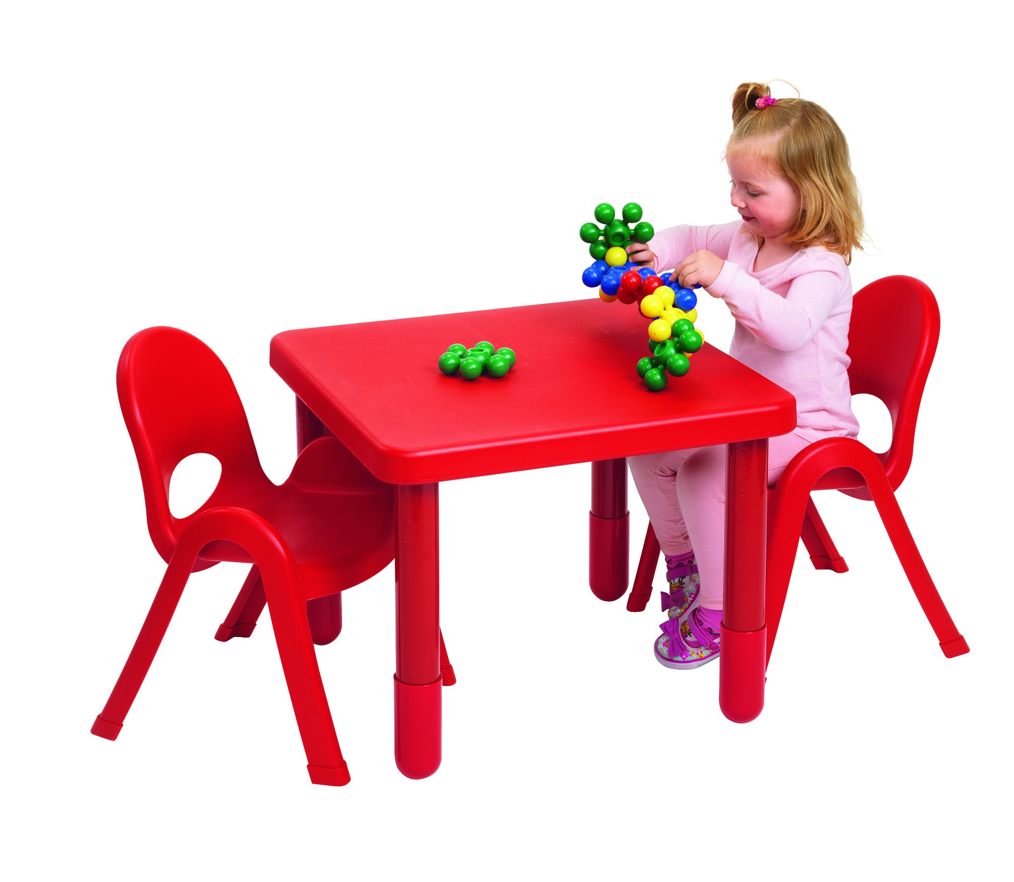 Angeles MyValue Candy Apple Red Table and Chair (Set of 2) by Angeles