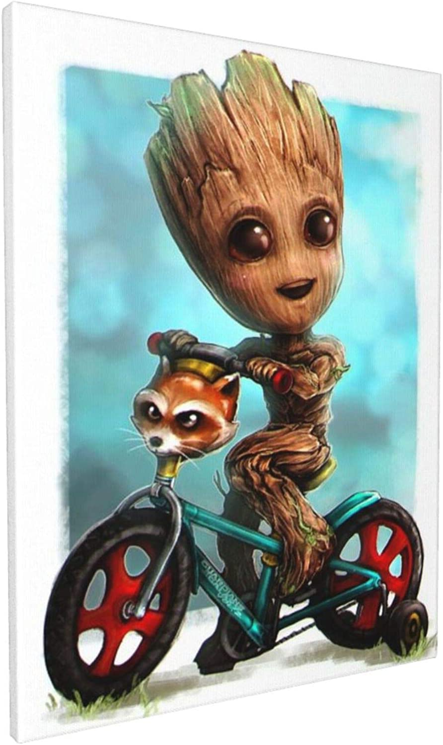 Aisuwer Groot Kawaii Painting Canvas Prints for Home Wall Decor Bedroom Living Room Office Decoration Framed Ready to Hang