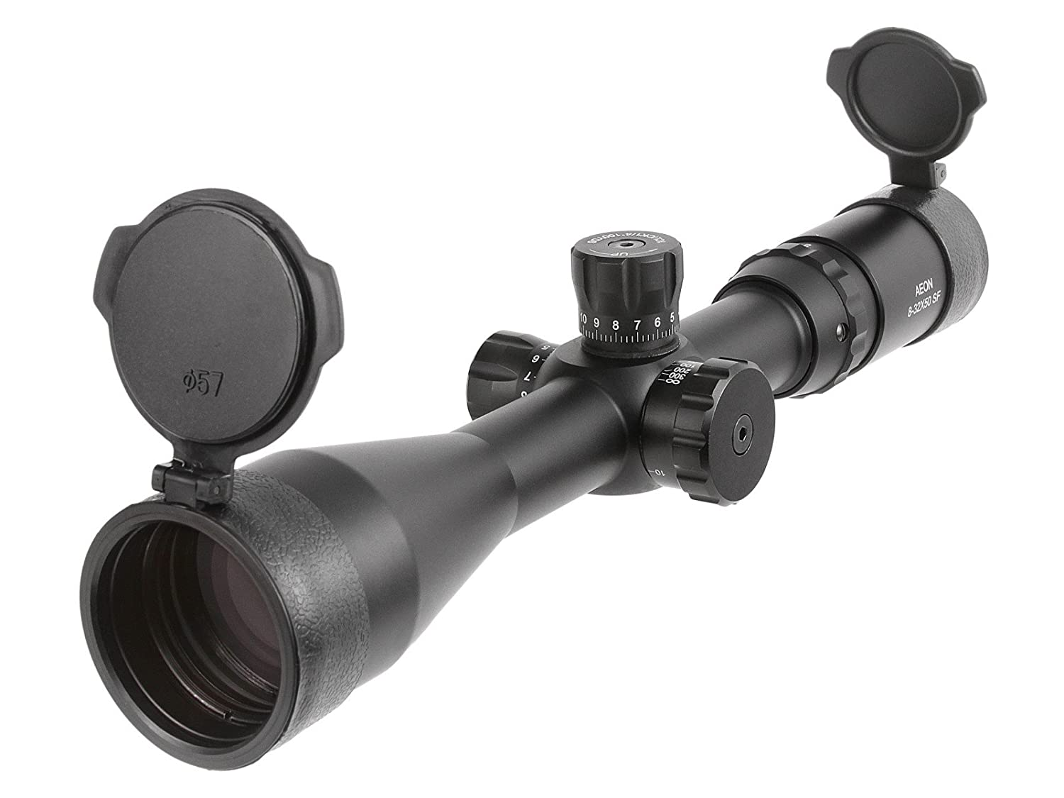 Aeon 8-32×50 AO Classic Rifle Scope, Trajectory Reticle, 1 4 MOA, 30mm Tube