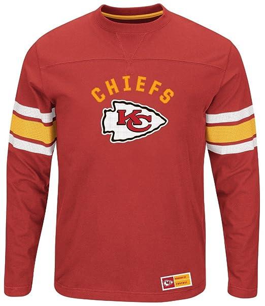Amazon.com   Kansas City Chiefs NFL Mens Majestic Power Hit Long Sleeve  Shirt Red Big Sizes (5XL)   Sports   Outdoors 8fe5572aa