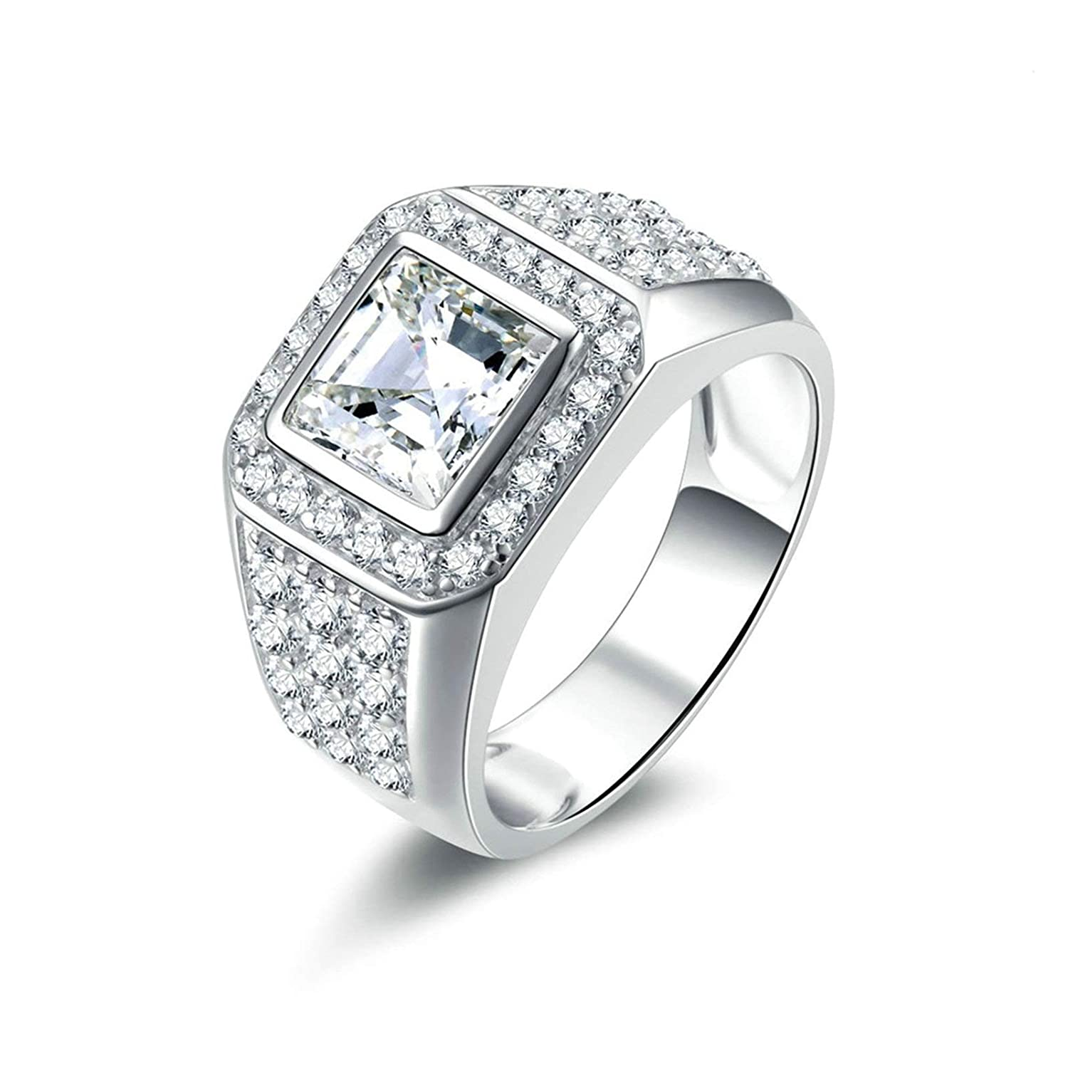 d103946a7d88c Aooaz Jewelry Wedding Ring Silver Material Sister Ring Square Ring ...
