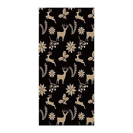 ezon-ch moderno amarillo ciervo en negro toalla de mano baño toallas de ducha de