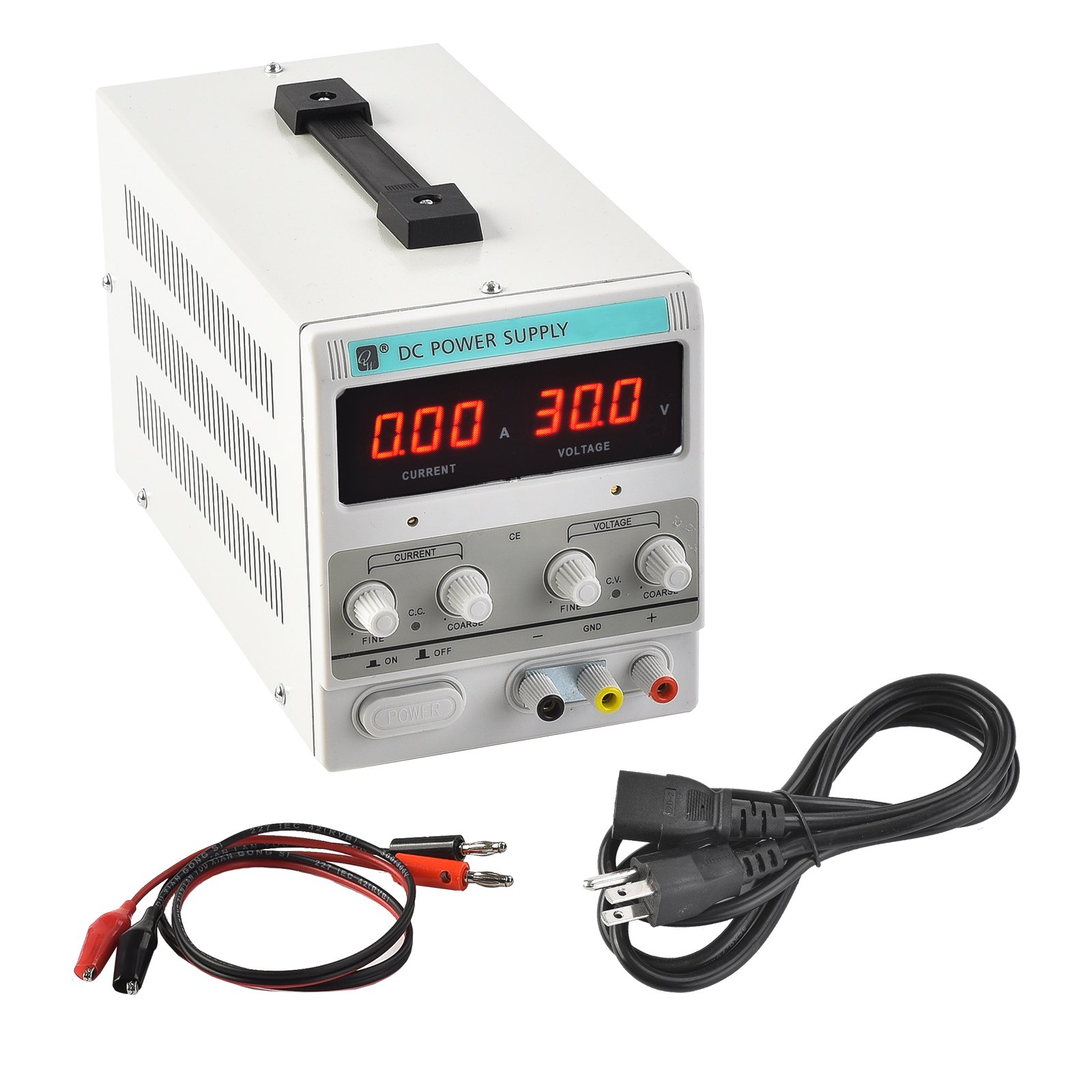 SUNCOO DC Power Supply 10A /30V Precision Variable Digital Adjustable Bench Dual LED Display US Standard w/Cable