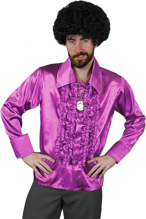 I LOVE FANCY DRESS LTD Camisa DE Disco Purpura para Adulto Estilo AÑOS 70S Fiestas TEMATICAS O Carnaval (XL): Amazon.es: Juguetes y juegos