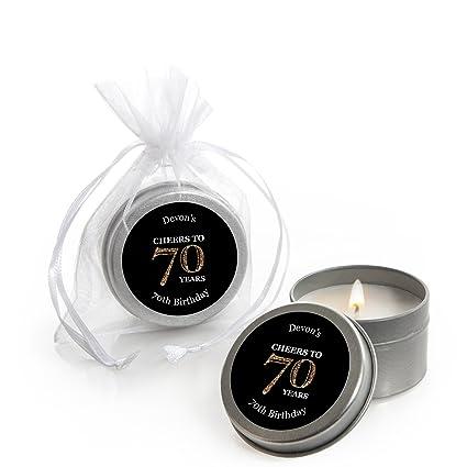 Amazon.com: Custom adulto 70º cumpleaños – Oro ...
