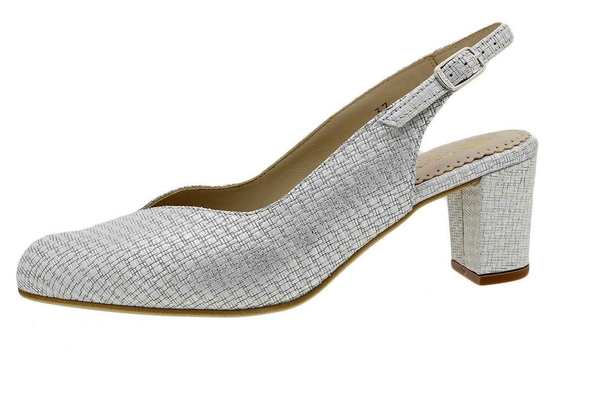 PieSanto Salón Grabado Nude 180229 Zapato Confort 45 EU|Grecia Hielo