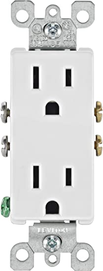 Leviton 5325 Wmp 15 Amp 125 Volt Decora Duplex Receptacle Residential Grade Grounding 10 Pack White Electrical Outlets Amazon Com