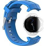 SUUNTO SPARTAN SPORT /HR Banda con protezione dello schermo, TUSITA cinturino in silicone per sostituzione WristBand per SUUNTO Watch