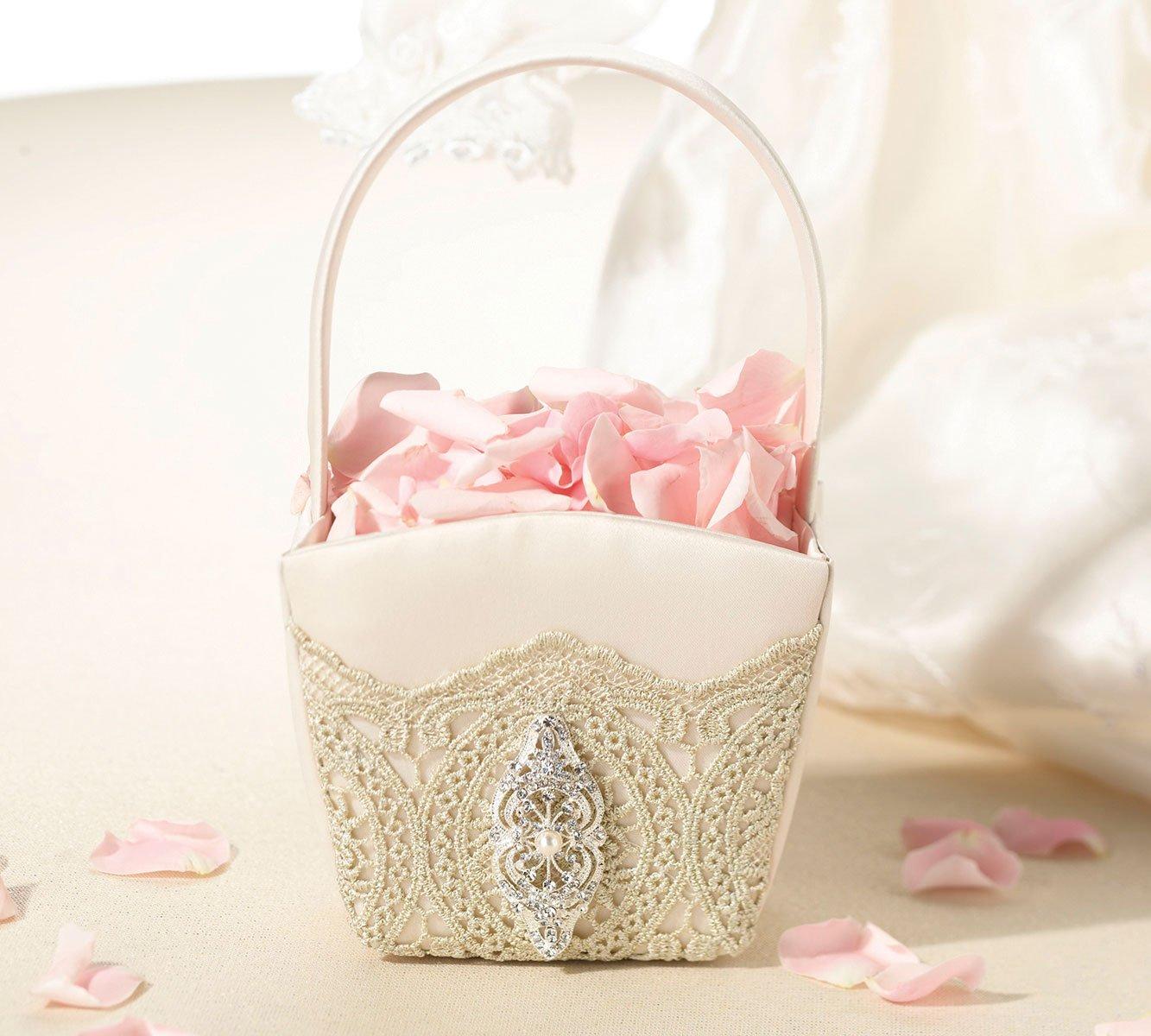 Amazon Lillian Rose Vintage Gold Lace Wedding Flower Girl