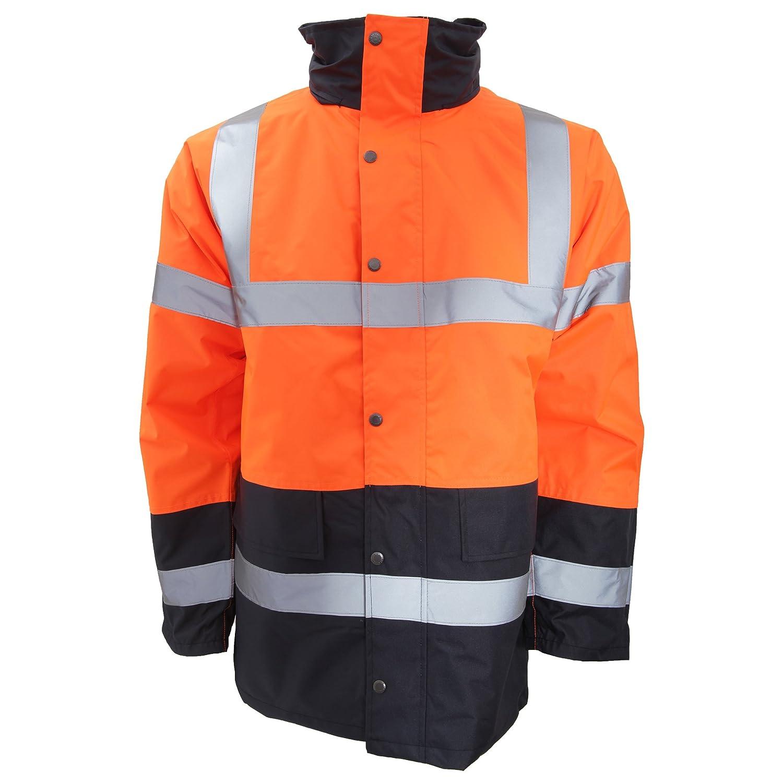 Orange//gris Portwest S467ogyxxxl Bicolore /à haute visibilit/é Trafic Veste Regular taille 3/X L
