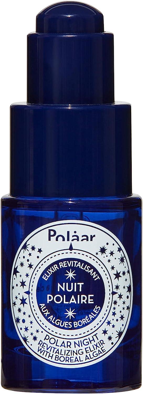 Polaar - Elixir Revitalizante Noche Polar con algas boreales 15 ml - Suero - Tratamiento hidratante facial - Antienvejecimiento, alisado, regenerador, desintoxicante - Todo tipo de pieles - Natural